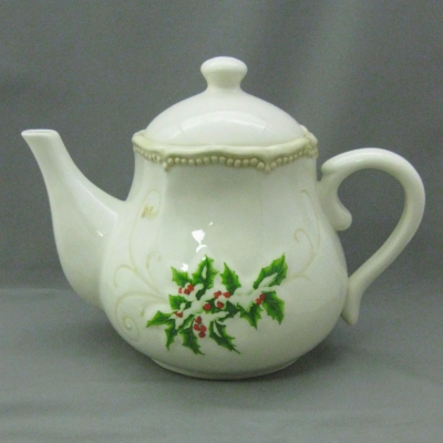 Holly teapot - Ganz/Bella Casa