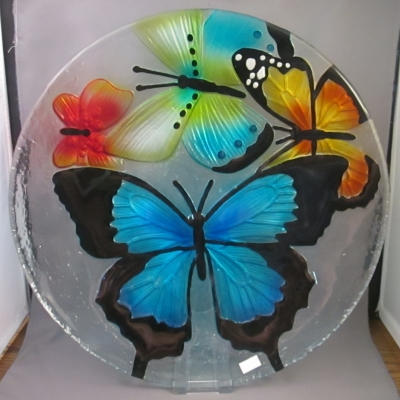 Butterflies Plate by Ganz - Click Image to Close
