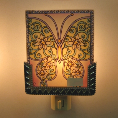 Ganz Interchangeable Nightlight panel (only) - Butterfly