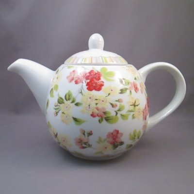 Ganz Stripes and Floral teapot