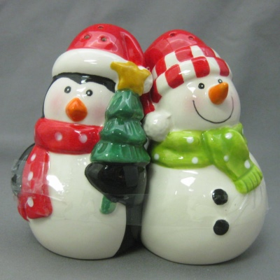 Penguin & Snowman salt & pepper set