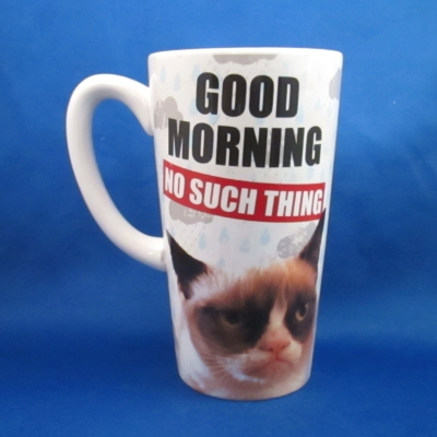 Grumpy Cat latte mug - Good Morning