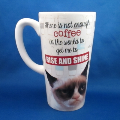 Grumpy Cat latte mug - Rise and Shine