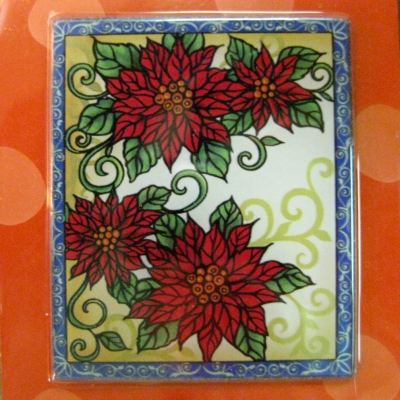 Ganz Interchangeable Nightlight panel (only) - Poinsettia