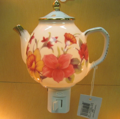 Teapot nightlight - Daffodils - Ganz