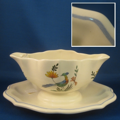 Gien Oiseau de Paradis gravy with attached underplate