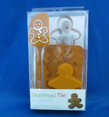 Gingerbread Man Baking Set (4 piece) - Giftcraft