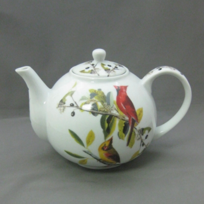 I. Godinger & Co. Audubon: Cardinal Grosbeak teapot - Click Image to Close