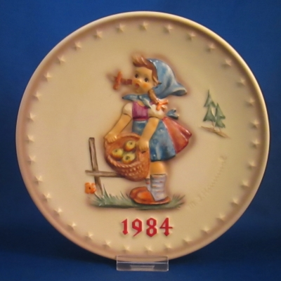 1984 Annual Plate - Girl with basket of apples