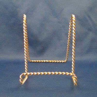 Gold Twist Plate Stand