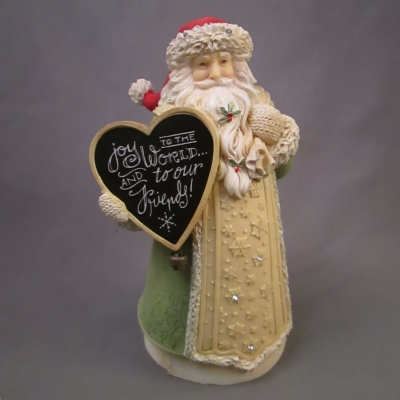 "Santa with ""Joy"" Sign figure"