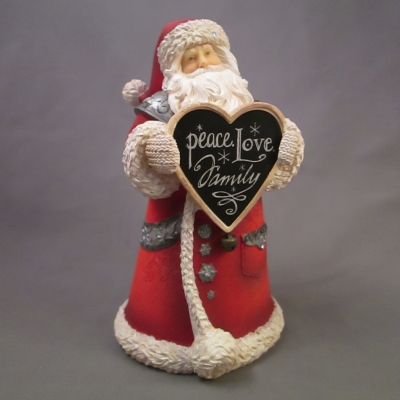 "Santa with ""Peace"" Sign figure"