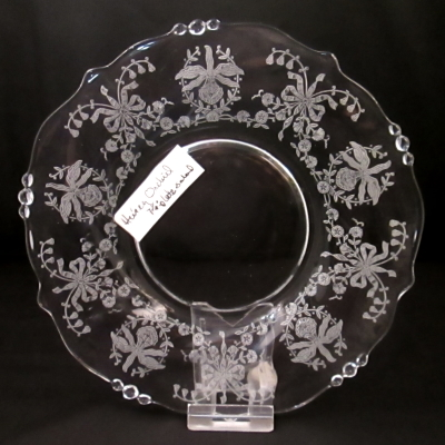 Heisey Orchid salad plate