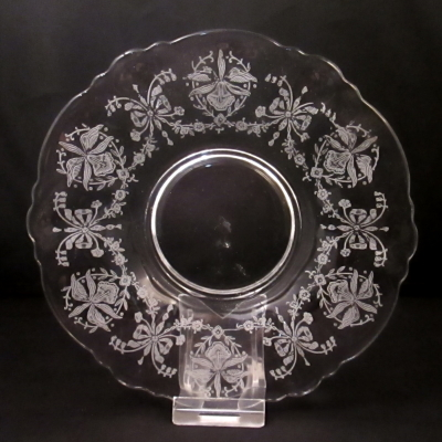 Heisey Orchid saucer