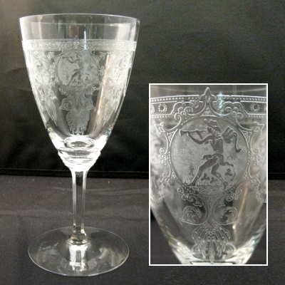 Heisey Pied Piper goblet