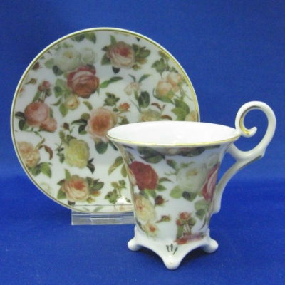 Rose cup and saucer - Herman Dodge & Son