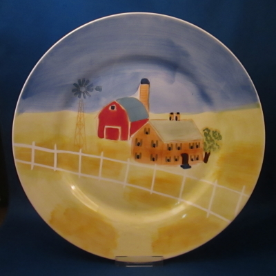 Herman Dodge Farm Scene dinner plate