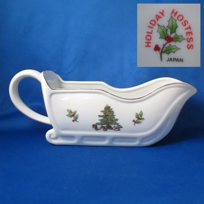 Sleigh gravy boat - Holiday Hostess/Japan