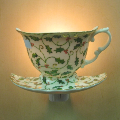 Teacup nightlight - Holly