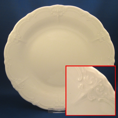 Hutschenreuther Baronesse White dinner and salad plates