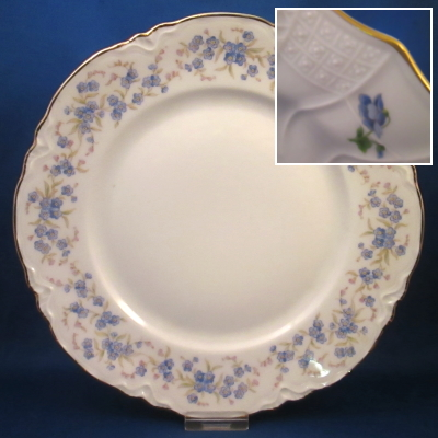 Hutschenreuther Forget Me Not dinner plate