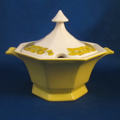 Independence Yellow Bouquet gravy boat with lid