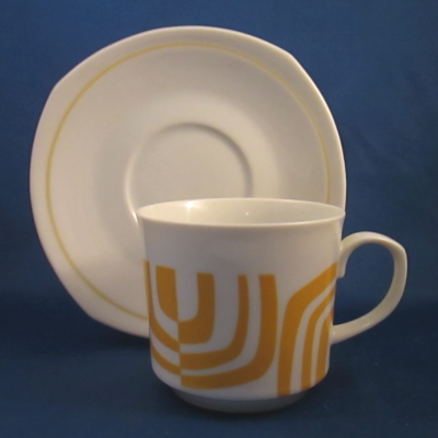 Independence Yellow Zebra cup & saucer