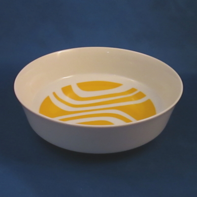 Independence Yellow Zebra cereal bowl