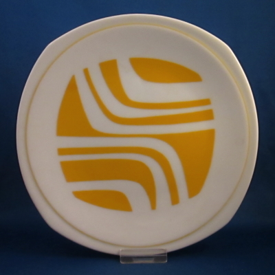 Independence Yellow Zebra salad plate