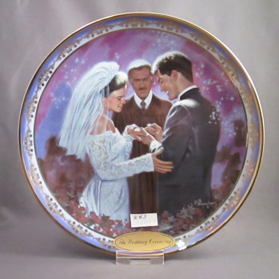The Wedding Ceremony display plate