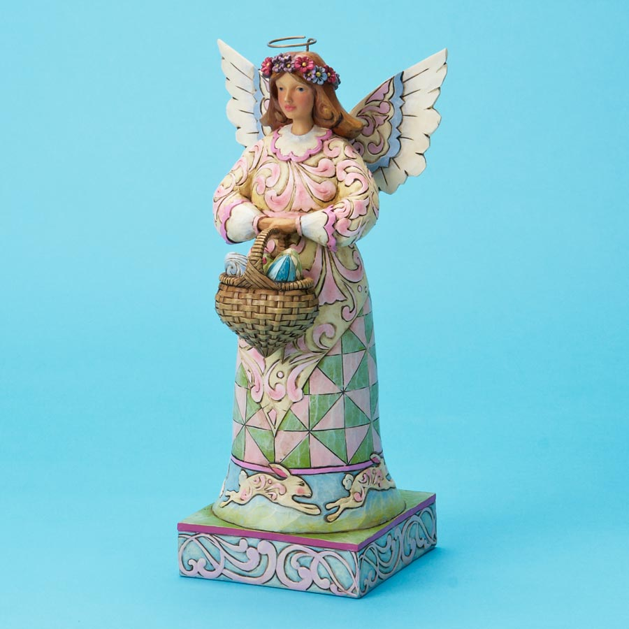 Easter Angel With Basket of Eggs