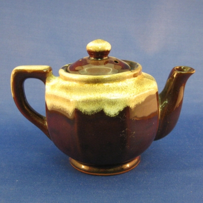"Brown 4"" mini teapot - Japan"