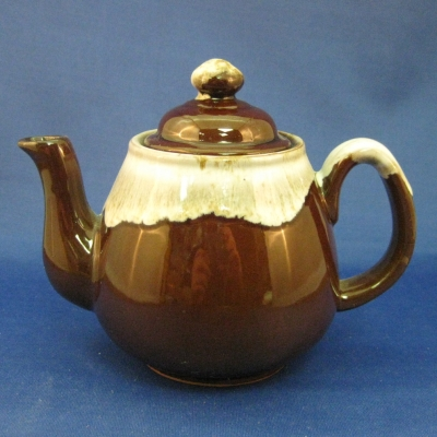 "Brown 5"" mini teapot - Japan"