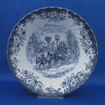 Johnson Brothers Coaching Scenes-Blue round vegetable bowl