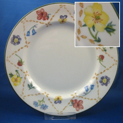 Johnson Brothers Diamond Flowers salad plate