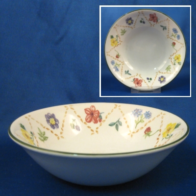 Johnson Brothers Diamond Flowers soup-cereal bowl