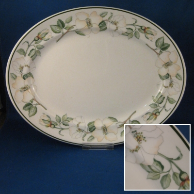 "Johnson Brothers Juliette small oval platter (12"")"
