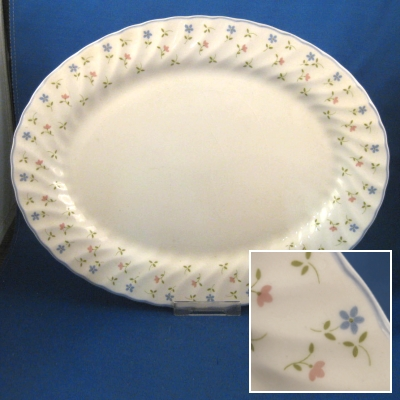 "Johnson Brothers Melody small oval platter (12"")"
