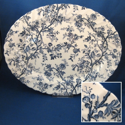 Johnson Brothers Old Bradbury-Blue small oval platter