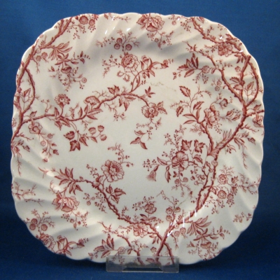 Johnson Brothers Old Bradbury-Pink square salad plate