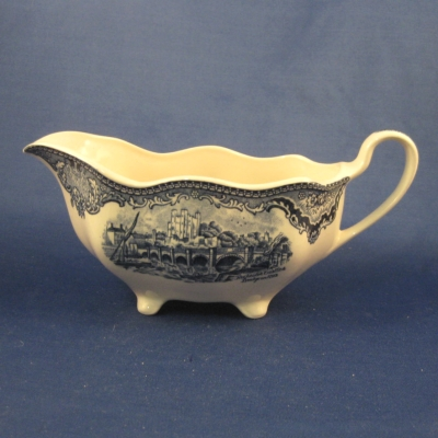 Johnson Brothers Old Britain Castles-Blue gravy boat