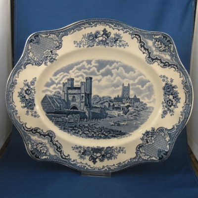 Johnson Brothers Old Britain Castles-Blue medium oval platter