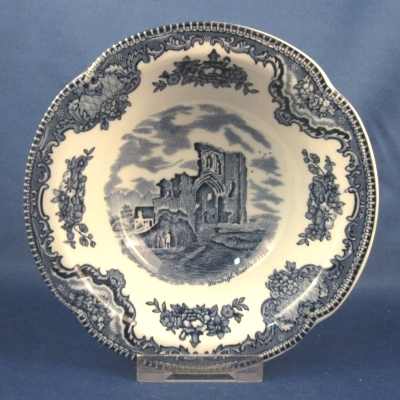Johnson Brothers Old Britain Castles-Blue rimmed cereal bowl