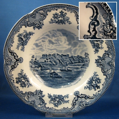 Johnson Brothers Old Britain Castles-Blue rimmed soup bowl