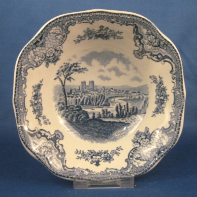 Johnson Brothers Old Britain Castles-Blue square cereal bowl