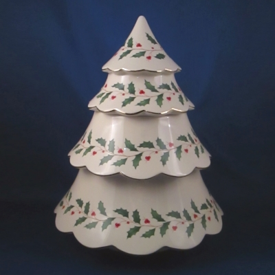 Lenox Holiday Archive Christmas tree cookie jar