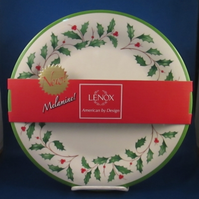 Lenox Holiday Melamine dinner plates, set of 4