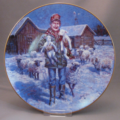 "1992 Country Christmas Plate ""Born on a Starry Night"""