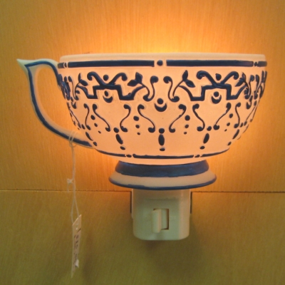 Teacup nightlight - Blue & White - MWW Market