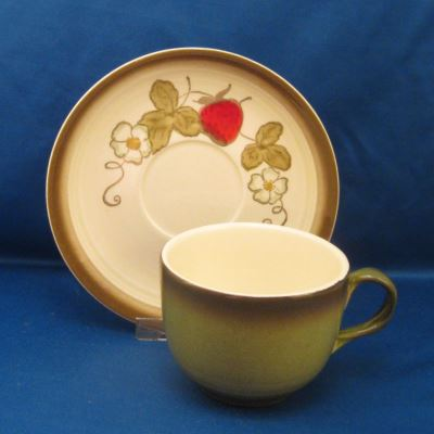Metlox California Strawberry cup and saucer